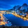 Europe - Croatia - Hrvatska - Central Dalmatia - Omiš - Harbour