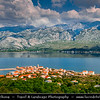 Europe - Croatia - Hrvatska - Dalmatia - Vinjerac - Charming old town in front of Velebit mountain national park