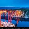Europe - Croatia - Hrvatska - Dalmatia - Ždrilo gorge - Maslenica Bridge in front of Velebit mountain national park