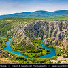 Europe - Croatia - Hrvatska - Dalmatia - Kanjon Zrmanje - Canyon Zrmanja River - Stunning area of incredible natural beauty