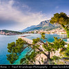 Europe - Croatia - Hrvatska - Central Dalmatia - Adriatic Coast - Makarska Rivijera - Makarska - Main beach resort built around a deep sheltered bay & backed by the dramatic rocky heights of Mount Biokovo 1762 m (5,770ft) and impressive Biokovo mountain range