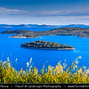 Europe - Croatia - Hrvatska - Central Dalmatia - Adriatic Coast - Murter Island Area - Countless small rocky islands within Šibenik archipelago - North Dalmatian island group, most dense island group of Adriatic & Mediterranean, with 189 islands, islets and cliffs