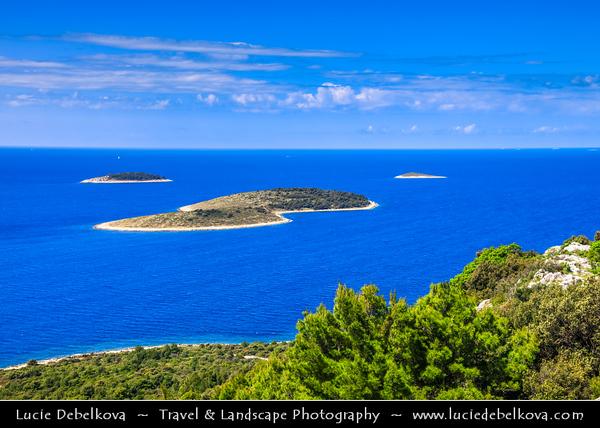 Europe - Croatia - Hrvatska - Central Dalmatia - Adriatic Coast - Primošten Island Area - Historical old town situated on small island