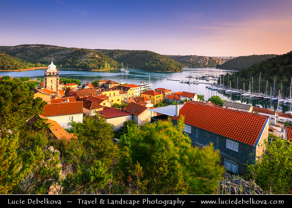 Europe - Croatia - Hrvatska - Dalmatia - Šibenik-Knin County - Skradin - Pittoresque town located at entrance to Krka National Park