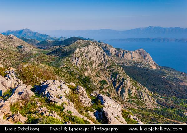 Europe - Croatia - Hrvatska - Central Dalmatia - Adriatic Coast - Makarska Rivijera - Biokovo Nature Park - Second-highest mountain range in Croatia with its highest peak - Sveti Jure (Saint George) 1762 m.a.s.l.