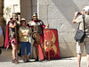 A few Roman guards keeping the peace