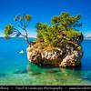 Europe - Croatia - Hrvatska - Central Dalmatia - Adriatic Coast - Brela Island - Kamen Brela - Brela Stone - Small rock island on the Punta Rata beach