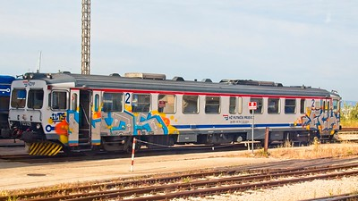 Graffiti on train at Split