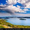 Europe - Croatia - Hrvatska - Central Dalmatia - Adriatic Coast - Murter Island Area - Countless small rocky islands within Šibenik archipelago - North Dalmatian island group, most dense island group of Adriatic & Mediterranean, with 189 islands, islets and cliffs