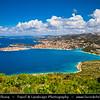 Europe - Croatia - Hrvatska - Central Dalmatia - Adriatic Coast - Primošten - Historical old town situated on small island on Adriatic Sea Coast