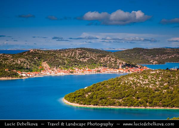 Europe - Croatia - Hrvatska - Central Dalmatia - Adriatic Coast - Murter Island - Tisno - Marine Dalmatian Town on Adriatic Sea Coast