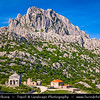 Europe - Croatia - Hrvatska - Dalmatia - Velebit mountain national park - Tulove Grede - Tulo - Tulovice - Unique karst rock formation with its highest peak 1,120 m above sea level - Stone Church Sveti Frane - St. Francis Chapel