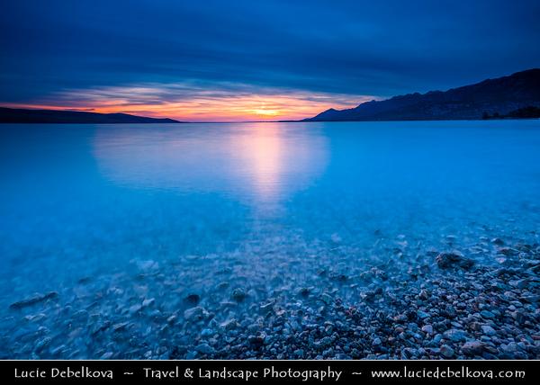 Europe - Croatia - Hrvatska - Dalmatia - Velebit mountain national park - Rovanjska bay village below Velebit mountain