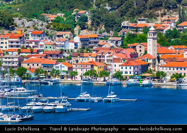 Europe - Croatia - Hrvatska - Dalmatia - Šibenik-Knin County - Skradin - Pittoresque town located at the entrance to the Krka National Park