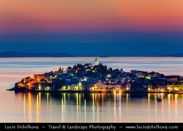 Europe - Croatia - Hrvatska - Central Dalmatia - Adriatic Coast - Primošten - Historical old town situated on small island