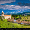 Europe - Croatia - Hrvatska - Dalmatia - Donji Karin - Pittoresque village on shores of Novigradsko More - Franciscan Monastery of the Blessed Virgin Mary