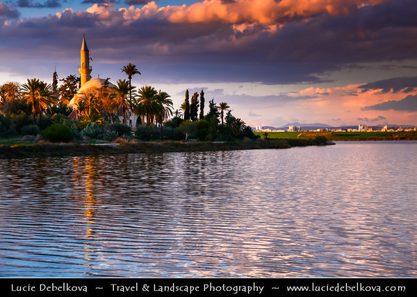 Cyprus - Κύπρος - Kýpros - The third largest island in the Mediterranean Sea - Larnaca - Λάρνακα - Lárnaka - Hala Sultan Tekke - Mosque of Umm Haram - Prominent Muslim shrine near Larnaca