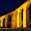 Cyprus - Κύπρος - Kýpros - The third largest island in the Mediterranean Sea - Larnaca - Λάρνακα - Lárnaka - Dusk - Twilight - Blue Hour at Osmanian aqueduct - Built 1745, supplied Larnaca with water till 1939