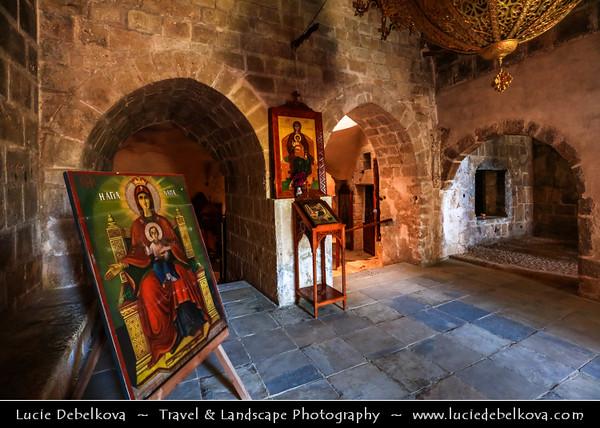 Europe - Cyprus - Κύπρος - Kýpros - Third largest island in Mediterranean Sea - Ayia Napa - Agia Napa - Αγία Νάπα - Ayia Napa Monastery - Medieval Monastery with Venetian Fountain & Greek orthodox church