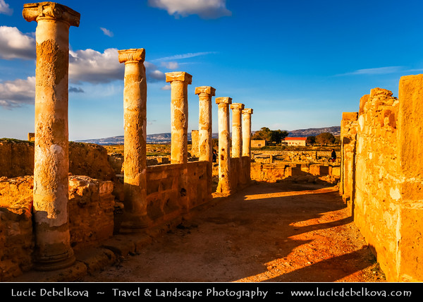 Cyprus - Κύπρος - Kýpros - The third largest island in the Mediterranean Sea - Paphos - Πάφος - Pafos - Baf - Historic Site with Ancient Ruins - Former Greco-Roman city