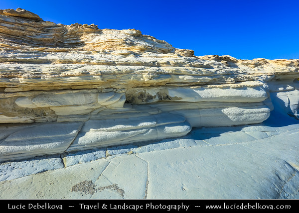 Europe - Cyprus - Κύπρος - Kýpros - Third largest island in Mediterranean Sea - South Coast - Limassol - Lemesos - Governors Beach - White rocks along the coast