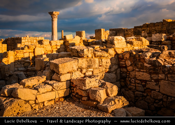 Cyprus - Κύπρος - Kýpros - The third largest island in the Mediterranean Sea - Limassol - Lemesos - Kourion - Κούριον - Curium - Historic Site with Ancient Ruins - Former Greco-Roman city from antiquity until the early Middle Ages