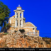 Europe - Cyprus - Κύπρος - Kýpros - Third largest island in Mediterranean Sea - East coast - Protaras - Paralimni - Profitis Elias Church - Typical orthodox church built in Byzantine style overlooking Mediterranean Sea