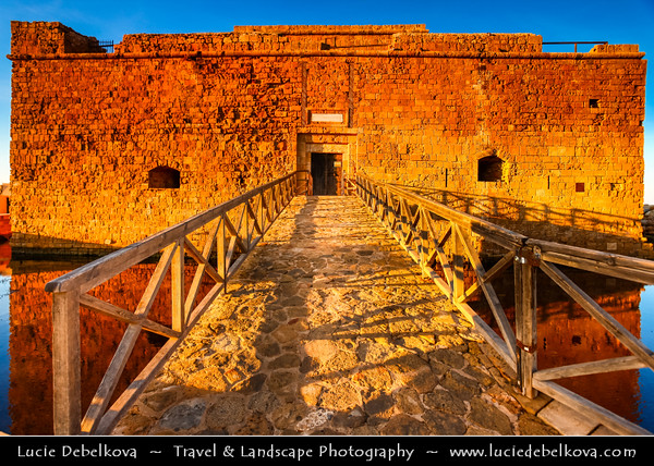 Cyprus - Κύπρος - Kýpros - The third largest island in the Mediterranean Sea - Paphos - Πάφος - Pafos - Baf - Early morning at the harbour and Paphos Fort