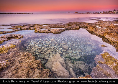 Cyprus - Κύπρος - Kýpros - The third largest island in the Mediterranean Sea - Paphos - Πάφος - Pafos - Baf - Sunrise at the city beach