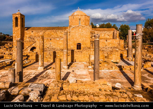 Europe - Cyprus - Κύπρος - Kýpros - Third largest island in Mediterranean Sea - Paphos - Πάφος - Pafos - Baf - Panayia chrysopolitissa church