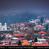 Cyprus - Κύπρος - Kýpros - The third largest island in the Mediterranean Sea - Troodos - The biggest mountain range of Cyprus - Located in the center of the island - Traditional village with Orthodox Byzantine Church