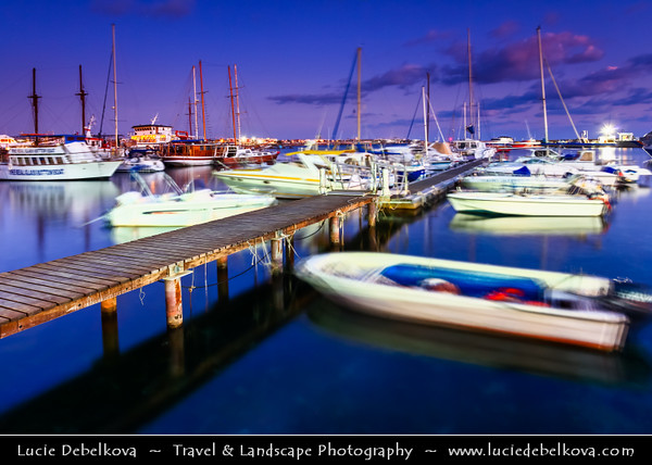 Cyprus - Κύπρος - Kýpros - The third largest island in the Mediterranean Sea - Paphos - Πάφος - Pafos - Baf - Marina with many beautiful boats