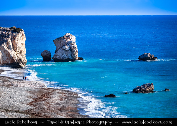 Cyprus - Κύπρος - Kýpros - The third largest island in the Mediterranean Sea - Paphos - Πάφος - Pafos - Baf - Petra Tou Romiou - Aphrodite's Rock