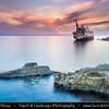 Europe - Cyprus - Κύπρος - Kýpros - Third largest island in Mediterranean Sea - West Coast - Region of Paphos - Πάφος - Pafos - Baf - Paphos shipwreck - Pafos pegeia - Sierra Leone-flagged EDRO III ran aground off Pegeia on 8th September 2011 in heavy stormy seas