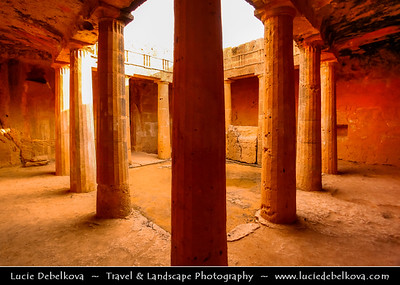 Cyprus - Κύπρος - Kýpros - The third largest island in the Mediterranean Sea - Paphos - Πάφος - Pafos - Baf - Tombs of the Kings - UNESCO World Heritage Site