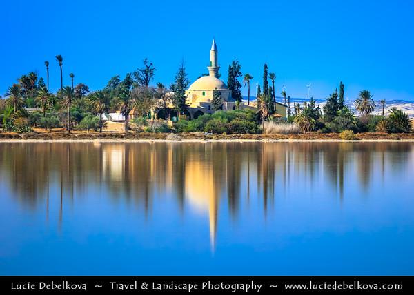 Europe - Cyprus - Κύπρος - Kýpros - Third largest island in Mediterranean Sea - Larnaca - Λάρνακα - Lárnaka - Hala Sultan Tekke - Mosque of Umm Haram - Muslim shrine on west bank of Larnaca Salt Lake