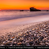Cyprus - Κύπρος - Kýpros - The third largest island in the Mediterranean Sea - Paphos - Πάφος - Pafos - Baf - Petra Tou Romiou - Aphrodite's Rock - Sunset