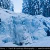 Europe - Czech Republic - Czechia - Krkonošský národní park - Krkonoše Mountains National Park - KRNAP - KPN - Giant Mountains - Frozen Winter Wonderland - Harrachov - Mumlavské vodopády - Mumlava Waterfalls under snowy winter cover