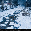 Europe - Czech Republic - Czechia - Krkonošský národní park - Krkonoše Mountains National Park - KRNAP - KPN - Giant Mountains - Frozen Winter Wonderland - Harrachov - Mumlavské vodopády - Mumlava Waterfalls under snowy winter cover