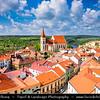 Europe - Czech Republic - Czechia - Jižní Morava - South Moravia - Znojmo - Historical walled town in winemaking region - Kostel svatého Mikuláše - St. Nicholas' Deanery Church - Iconic landmark towering over old town