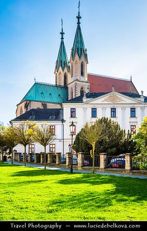 Europe - Czech Republic - Czechia - Jižní Morava - South Moravia - Kroměříž - Historical town famous for spectacular gardens - UNESCO World Heritage Site - Kapitulní Kostel svatého Mořice - Church of St. Moritz