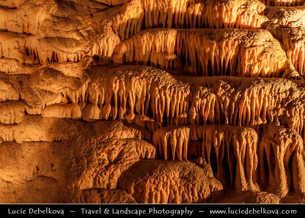 Europe - Czech Republic - Jižní Morava - South Moravia - Kateřinská jeskyně - Catherine's Cave - One of the best-known subterranean areas of the Moravian Karst - Moravský kras - Cathedrals of stalagmites and stalactites