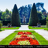 Europe - Czech Republic - Czechia - Jižní Morava - South Moravia - Břeclav District - Zámek Lednice - Lednice Chateau - UNESCO World Heritage Site - Fairy tale castle part of Lednicko-valtický area natural complex with spectacular botanical gardens