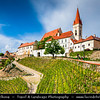 Europe - Czech Republic - Czechia - Jižní Morava - South Moravia - Znojmo - Historical walled town in winemaking region - Kostel svatého Mikuláše - St. Nicholas' Deanery Church - Iconic landmark towering over old town