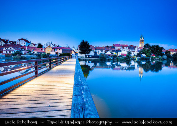 Europe - Czech Republic - Moravia - Telč - UNESCO World Heritage Site - Historical town founded in 13th century as a royal water fort on the crossroads of busy merchant routes between Bohemia, Moravia and Austria