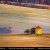 Europe - Czech Republic - Czechia - Jižní Morava - South Moravia - Moravské Toskánsko - Moravian Tuscany - Soft rolling hills and fields - Slavná Moravská pole - Větrný mlýn Kunkovice - Historical Wind Mill