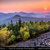 Europe - Czech Republic - Bohemia - Čechy - Ústecký kraj - Ústí nad Labem Region - Lužické hory - Lusatian Mountains - Jedlová (774 m) - One of important peaks with iconic lookout tower - Sunset