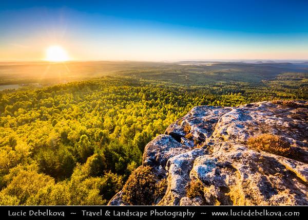 Europe - Czech Republic - Čechy - Bohemia - Ústí nad Labem Region - Děčín District - Děčínský Sněžník - Highest peak in Elbe Sandstone Mountains at 722.8 m above sea level