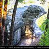 Europe - Czech Republic - Bohemia - Čechy - Liberecký kraj - Liberec Region - Sloup v Čechách - Hrad Sloup - Skalní hrad a poustevna - Rock castle and hermitage on a sand stone rock