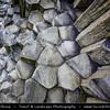 Europe - Czech Republic - Bohemia - Čechy - Liberecký kraj - Liberec Region - Kamenický Šenov - Panská skála - Remains of old volcano - Basalt Columns of lava which crystallized inside vent of volcano 25 million years ago - Attractive & popular geological site - Stone organ pipes